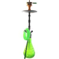 Кальян Amy Deluxe 4-Star 640 + Hot screen (green, psmbk) Колба Зеленая Шахта Черная h=71 см