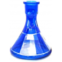 Колба Богемское стекло Синяя