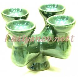 Чашка для табака четверная зеленая
