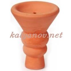 Чашка для табака глиняная конус большая