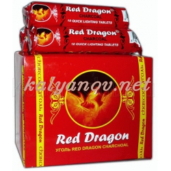 "Уголь ""Red Dragon"" 33мм, 10шт"