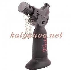 Горелка VIPER V9 BLACK RUBBER для розжига угля