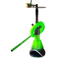 Кальян Amy Deluxe 4-Star 450 (psmbk-gr) Колба Зеленая Шахта Черная h=53 см