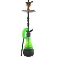 Кальян Amy Deluxe 4-Star 620 + Hot screen (psmbk-gr) Колба Зеленая Шахта Черная h=71 см