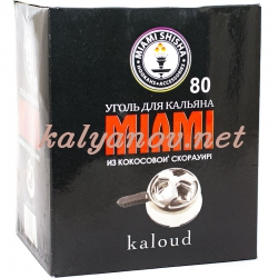 Уголь для кальяна Miami для Калауда 80 кубиков (Индонезия)