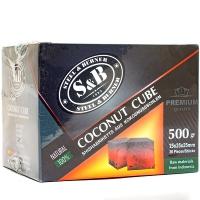 Уголь для кальяна SnB 36 кубиков 25*25*25  0.5 кг (Кокосовый)