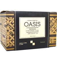 Уголь Oasis 96 куб. Кококсовый 1 кг 22 мм